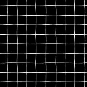 Sudadera negra con cuadros blancos
