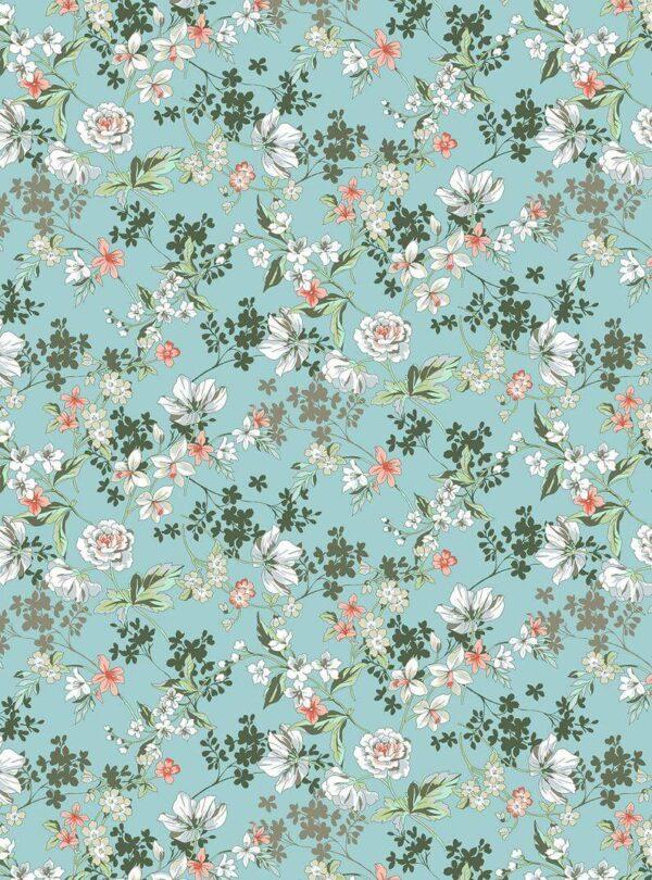 Viscosa turquesa flores
