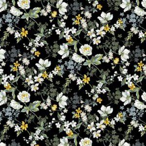 Viscosa negra de flores