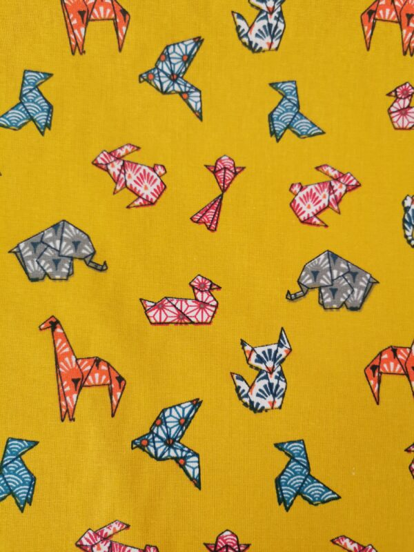 Tela japonesa amarilla origami