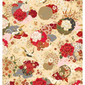 Tela japonesa kimono marfil