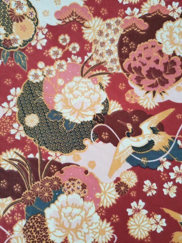 tela japonesa kimono granate