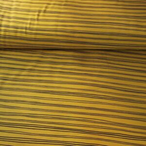 Sudadera amarillo mostaza a rayas negras