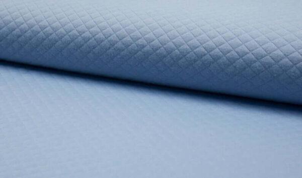 tela de sudadera acolchada azul celeste