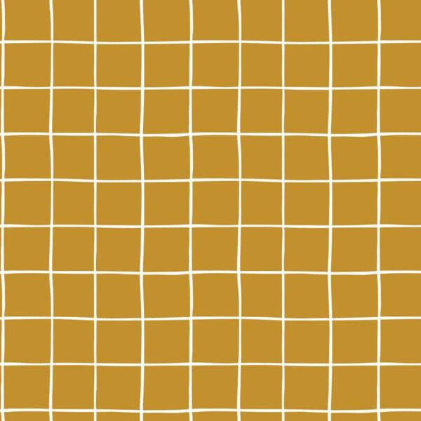 SUdadera mostaza cuadrados blancos