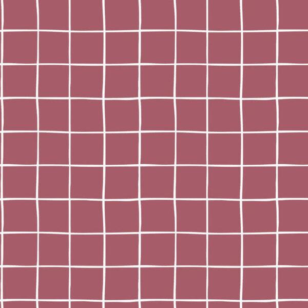 Sudadera rosa cuadros blancos