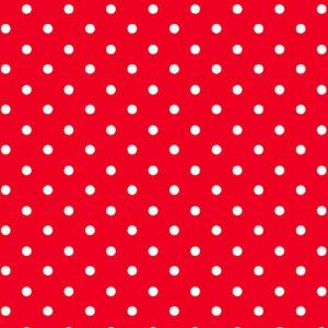 Viscosa roja con lunares blancos