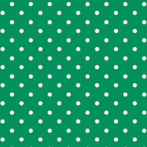 Viscosa verde con lunares blancos