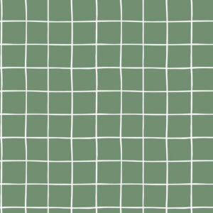 Sudadera verde con cuadros blancos