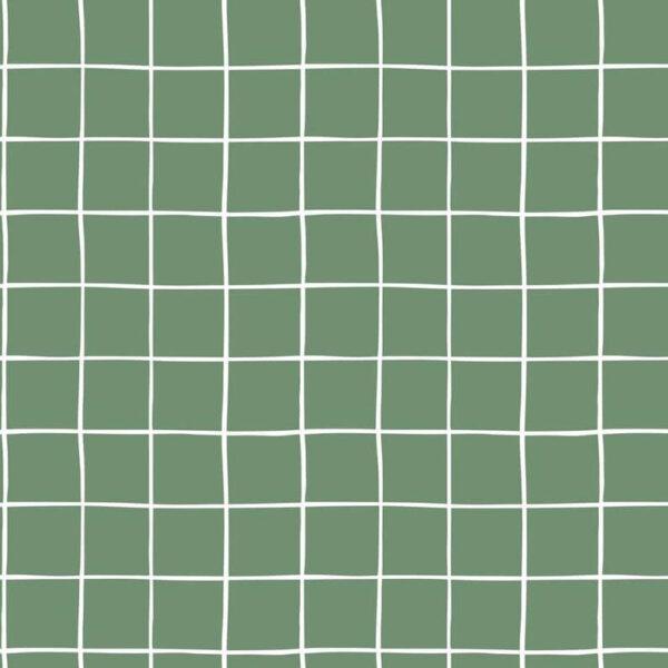 TEla sudadera verde cuadros blancos
