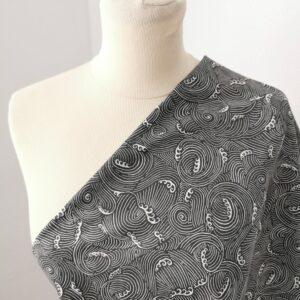 Tela de kimono olas grises