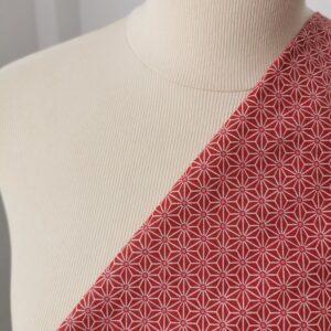 Tela kimono asanoha coral