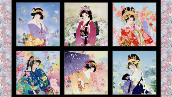 Panel de geishas