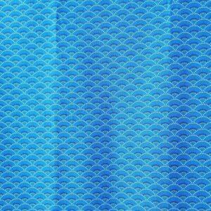 Algodón azul olas geométricas