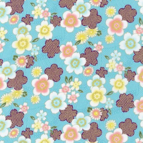 Tela japonesa flores cerezo