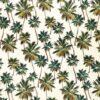 Tela Haaiiana crudo palmeras