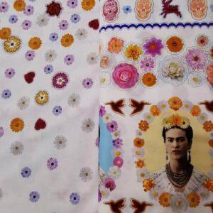 Tela blanca retratos Frida