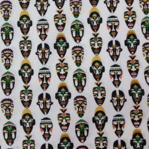 Algodón blanco máscaras africanas