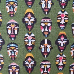 Algodón kaki máscaras africanas