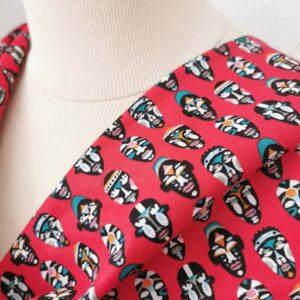 Algodón rojo máscaras africanas