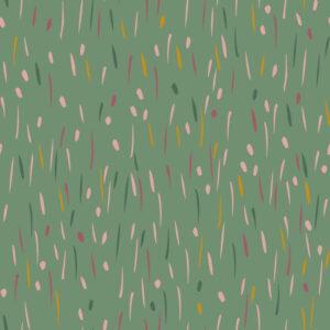 Sudadera verde rayas y lunares