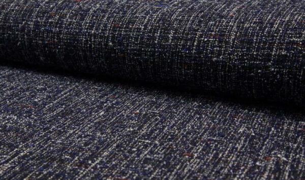 Tweed azul y blanco