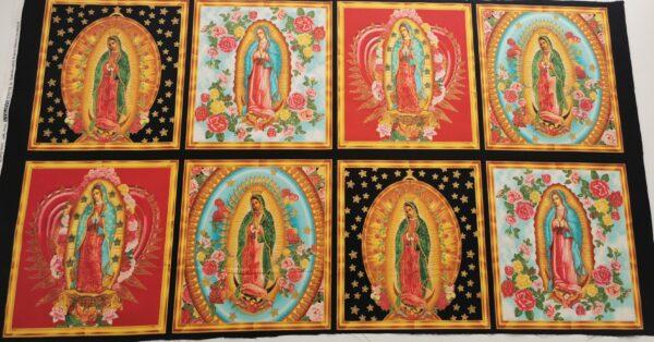 Panel de 8 vírgenes de Guadalupe