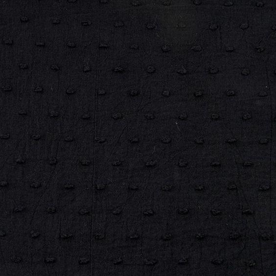 Plumeti de algodón negro
