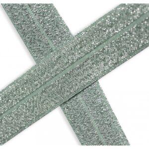 Bies elástico de lúrex mint