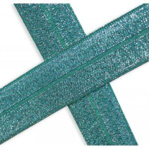 Bies elástico de lúrex esmeralda