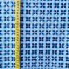 ALgodón azul con estampado geométrico
