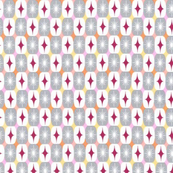 Algodón motivos geométricos retro