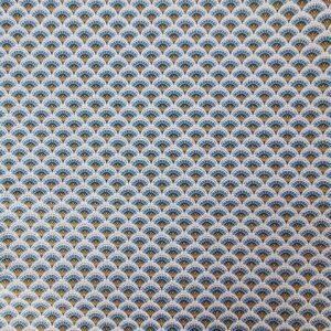 Algodón azul plumas