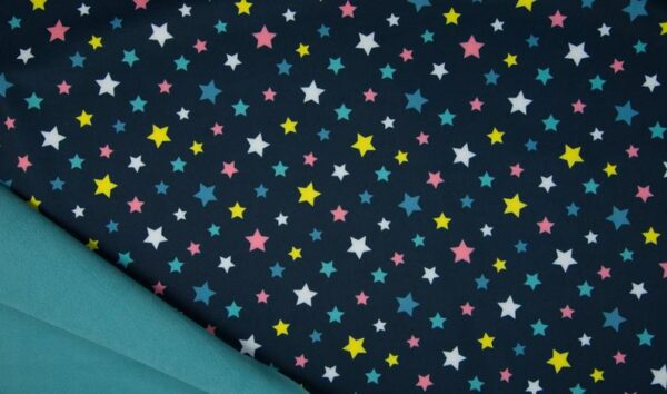 Softshell azul marino estrellas