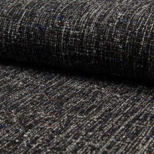 Tweed negro y blanco