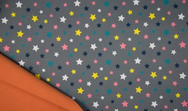 softshell gris estrellas