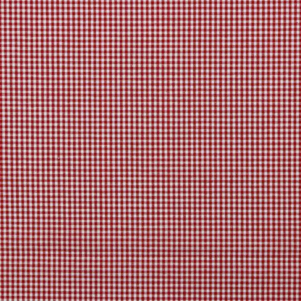 Tela de cuadros roja y blanca