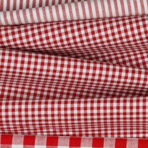Vichy rojo y blanco