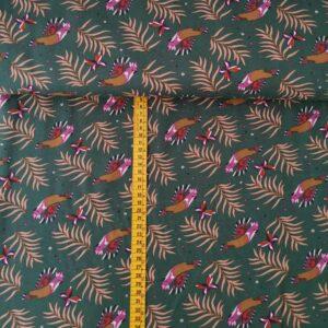 Viscosa verde de cacatúas