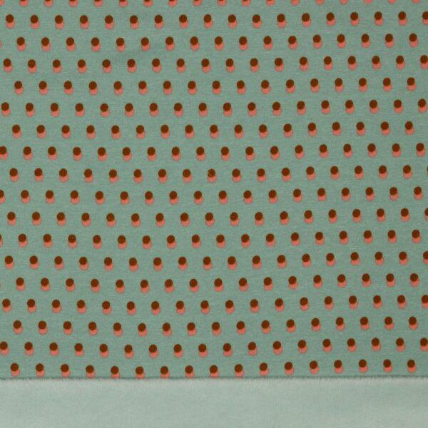 Sudadera azul doble cara puntos