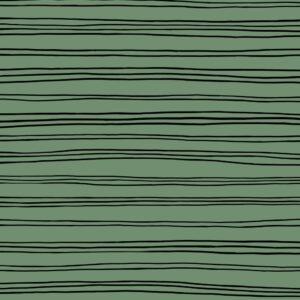 Sudadera orgánica verde a rayas negras