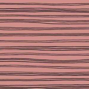 Sudadera orgánica rosa palo a rayas negras